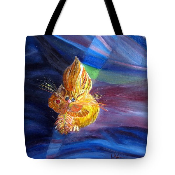 Tote Bag featuring the painting Who Me? What Birdie? by LaVonne Hand