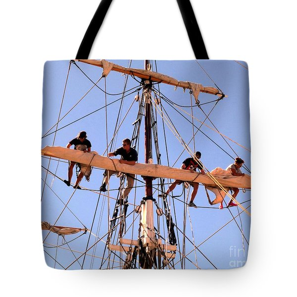 Who Was That Mast Man Tote Bag