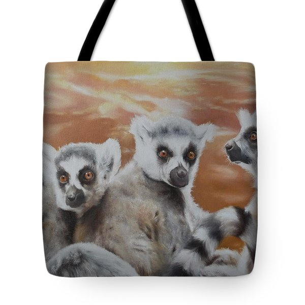 Tote Bag featuring the painting Who What Where by Cherise Foster