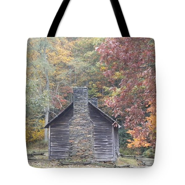 Tote Bag featuring the photograph Whorley Homeplace At Rocky Knob Cabins Blue Ridge Parkway by Diannah Lynch