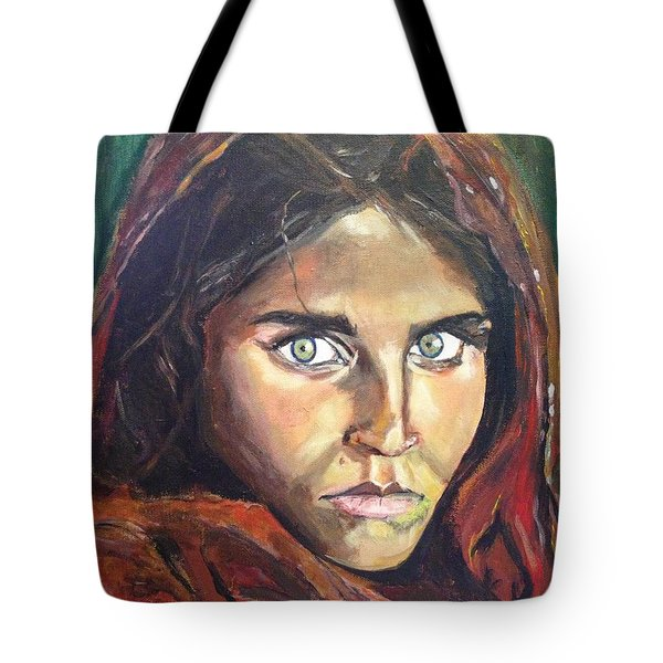 Tote Bag featuring the painting Who's That Girl? by Belinda Low
