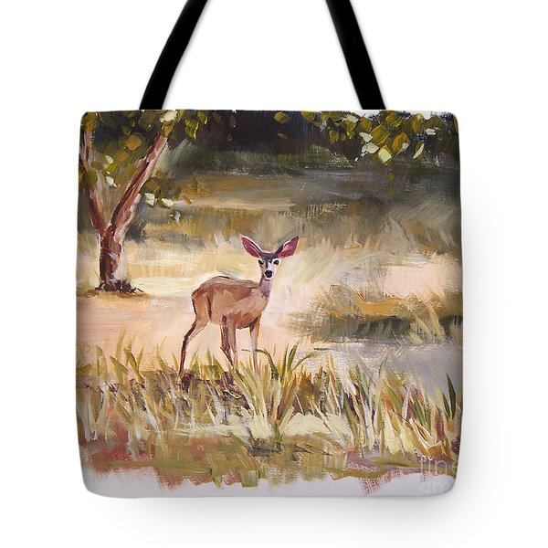 Who's There Tote Bag by Jennifer Beaudet