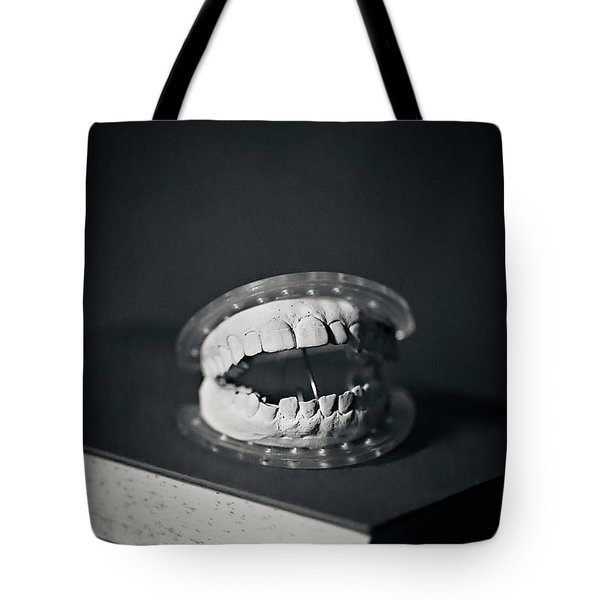 Tote Bag featuring the photograph Whose Teeth Are These? by Trish Mistric
