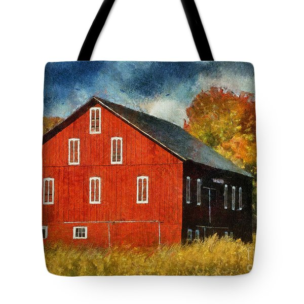 Why Do They Paint Barns Red? Tote Bag by Lois Bryan
