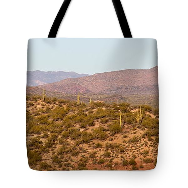 Wickenburg Mountains Tote Bag by Suzanne Oesterling