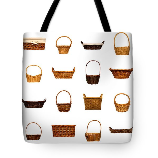 Wicker Basket Collection Tote Bag