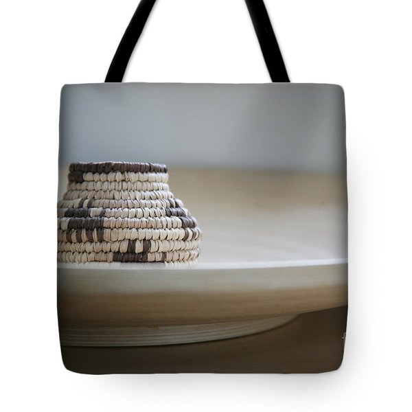 Wicker On Wood Tote Bag by Lynn England