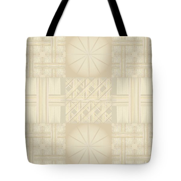 Wicker Quilt Tote Bag