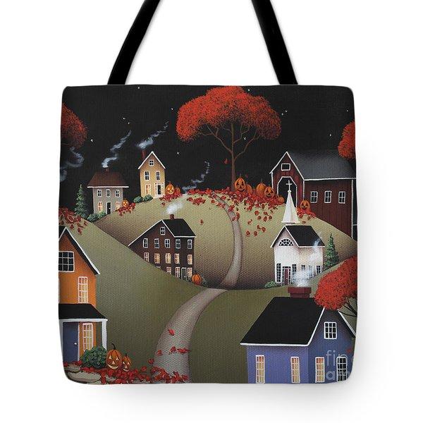 Wickford Village Halloween Ll Tote Bag by Catherine Holman