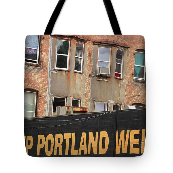 Weird And Wonderful Portland Tote Bag by Kris Hiemstra