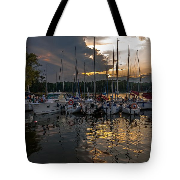 Tote Bag featuring the photograph Wierzba Yacht Marina In The Afternoon by Julis Simo