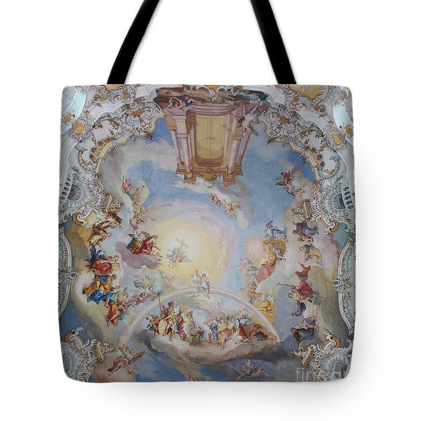 Wies Pilgrimage Church Bavaria Fresko Tote Bag by Rudi Prott