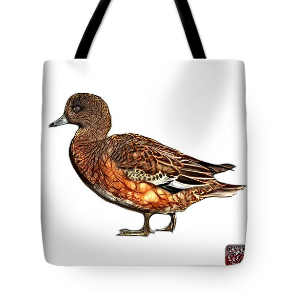 Tote Bag featuring the mixed media Wigeon Art - 7415 - Wb by James Ahn