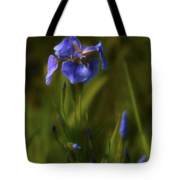 Wild Alaskan Iris Tote Bag