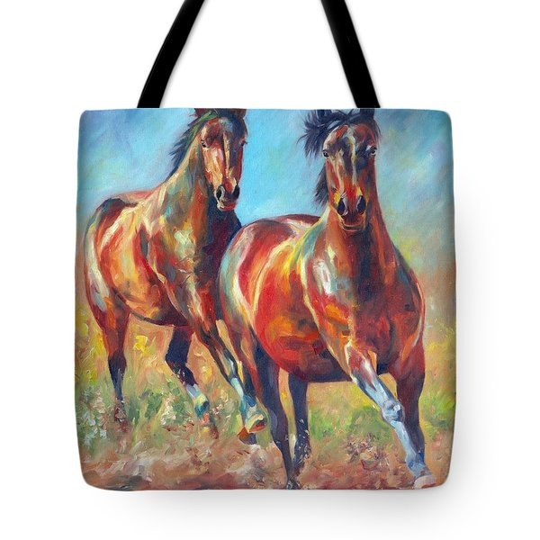 Wild And Free Tote Bag by David Stribbling
