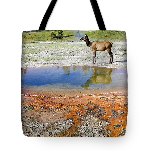Wild And Free In Yellowstone Tote Bag by Teresa Zieba