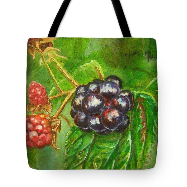 Wild Blackberries Tote Bag