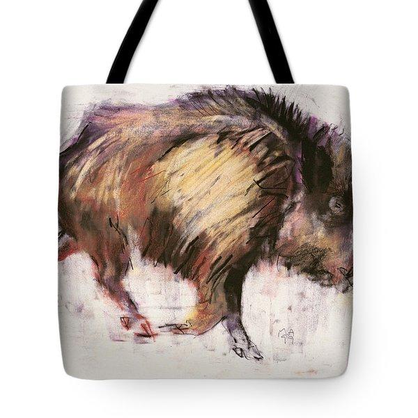 Wild Boar Trotting Tote Bag