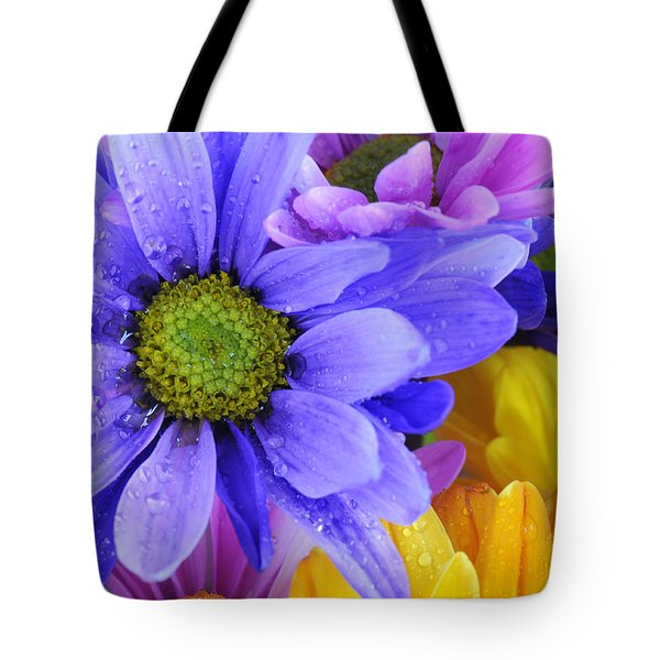 Wild Crazy Daisies 2 Tote Bag by Kenny Francis