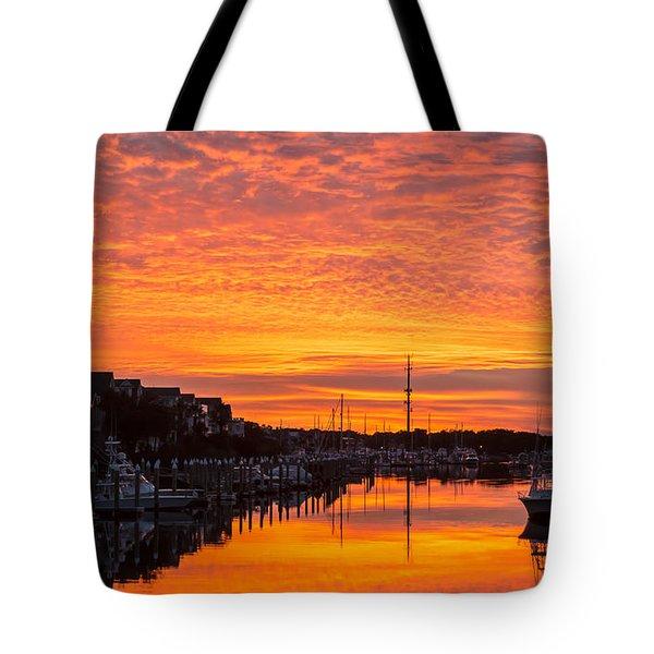 Wild Dunes Sunset Isle Of Palms Tote Bag
