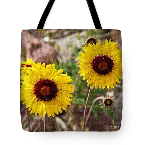 Tote Bag featuring the photograph Wild Flowers Above The Rim by Tom Janca