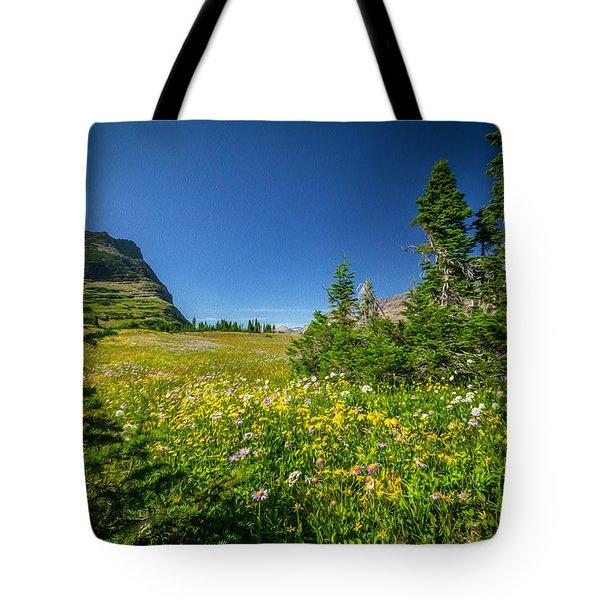 Wild Flowers Glacier National Paintedpark   Tote Bag by Rich Franco