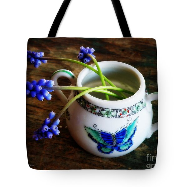 Wild Flowers In Sugar Bowl Tote Bag