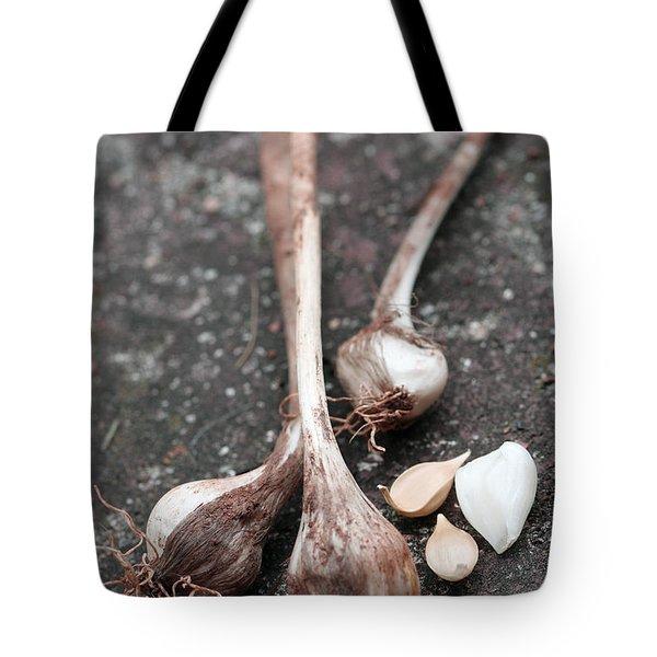 Wild Garlic Tote Bag by Melinda Fawver