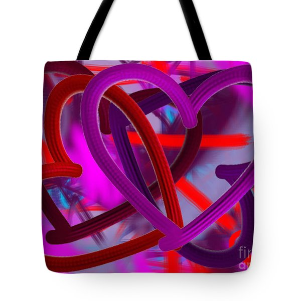Tote Bag featuring the painting Wild Hearts by Go Van Kampen