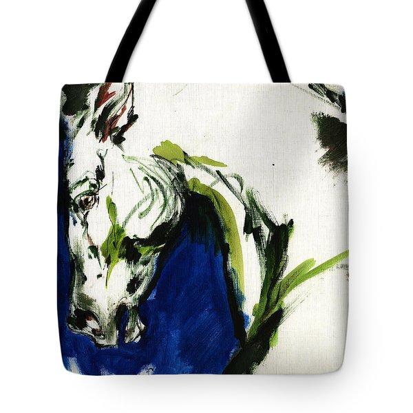 Wild Horse Tote Bag by Angel  Tarantella