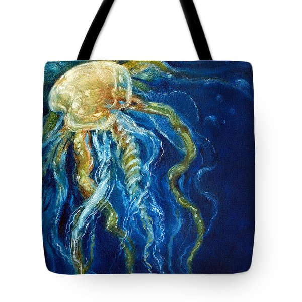 Wild Jellyfish Reflection Tote Bag