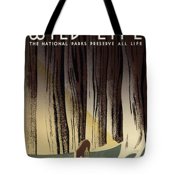 Wild Life Poster, C1940 Tote Bag by Granger