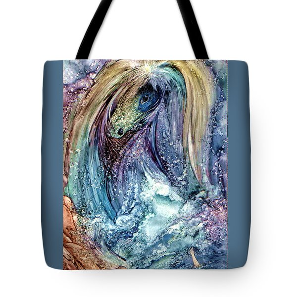 Tote Bag featuring the painting Wild Mother Nature by Mikhail Savchenko