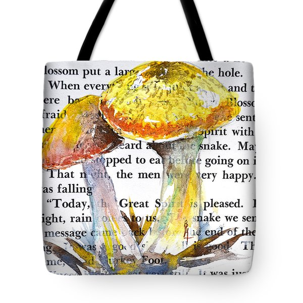Wild Mushrooms Tote Bag by Beverley Harper Tinsley