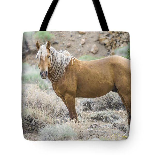 Wild Mustang Stallion Tote Bag
