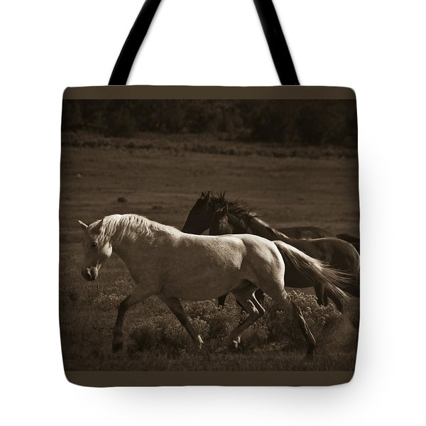 Tote Bag featuring the photograph Wild Mustangs Of New Mexico 10 by Catherine Sobredo