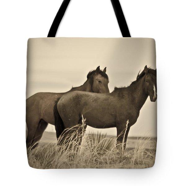 Wild Mustangs Of New Mexico 3 Tote Bag
