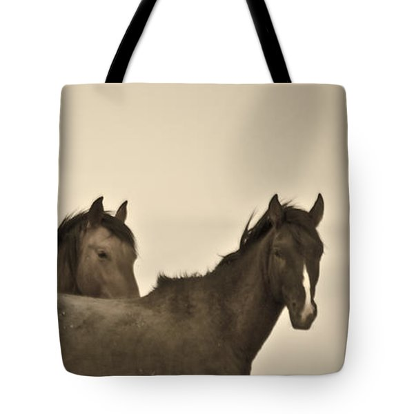 Tote Bag featuring the photograph Wild Mustangs Of New Mexico 3 by Catherine Sobredo