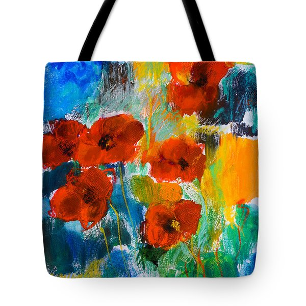 Wild Poppies Tote Bag by Elise Palmigiani
