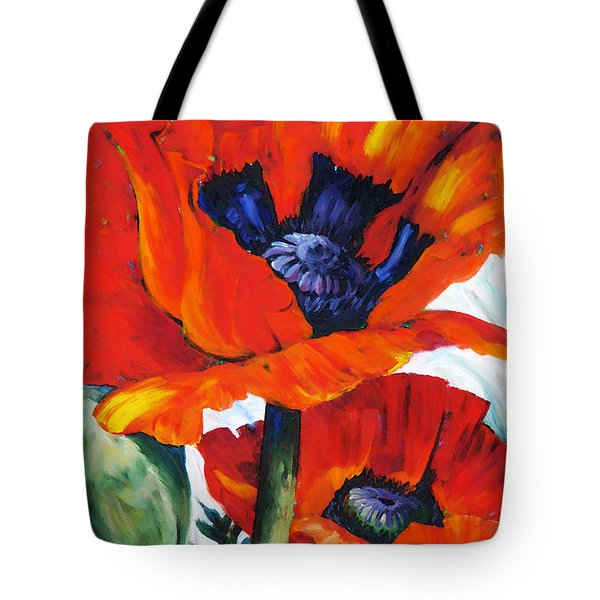 Wild Poppies - Floral Art By Betty Cummings Tote Bag by Sharon Cummings