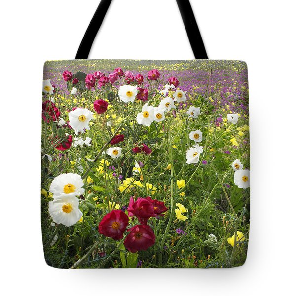 Wild Poppies South Texas Tote Bag by Susan Rovira