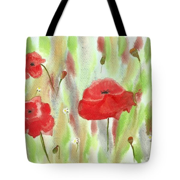 Wild Poppies Tote Bag by Tracey Williams