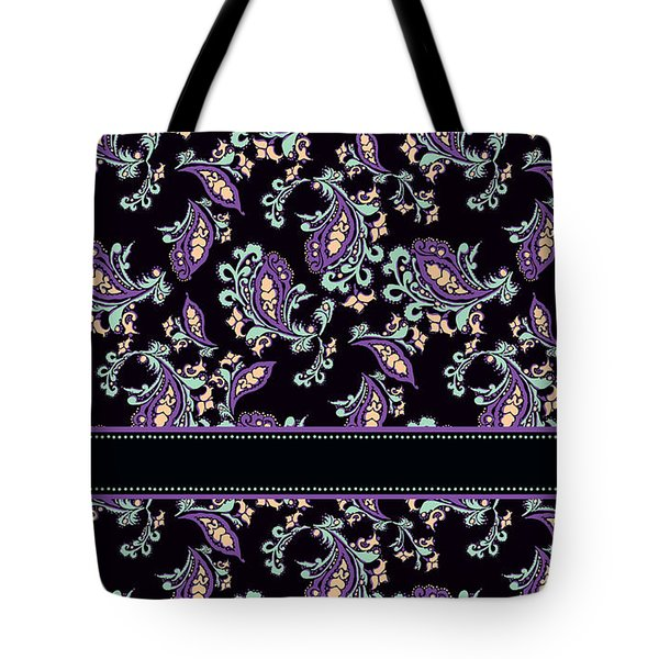 Wild Purple Paisley Tote Bag by Jenny Armitage