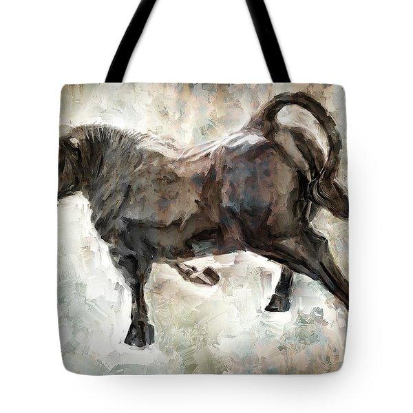 Wild Raging Bull Tote Bag