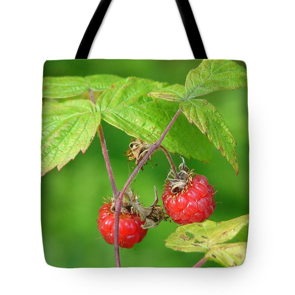 Wild Raspberries Tote Bag