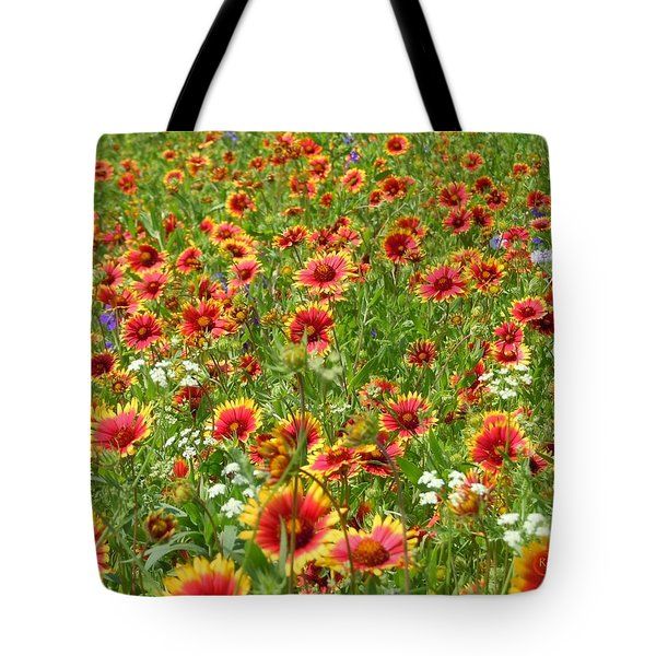 Tote Bag featuring the photograph Wild Red Daisies #3 by Robert ONeil