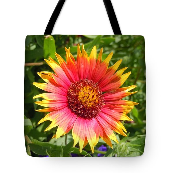 Tote Bag featuring the photograph Wild Red Daisy #3 by Robert ONeil
