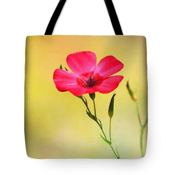 Tote Bag featuring the photograph Wild Red Flower by Tom Janca