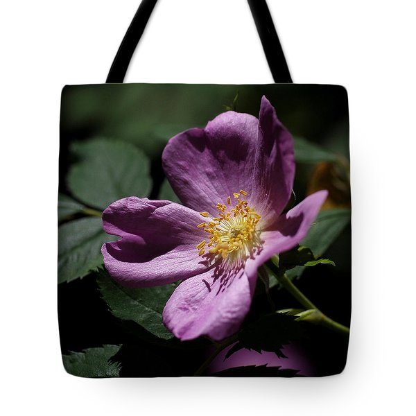 Tote Bag featuring the photograph Wild Rose by Rona Black