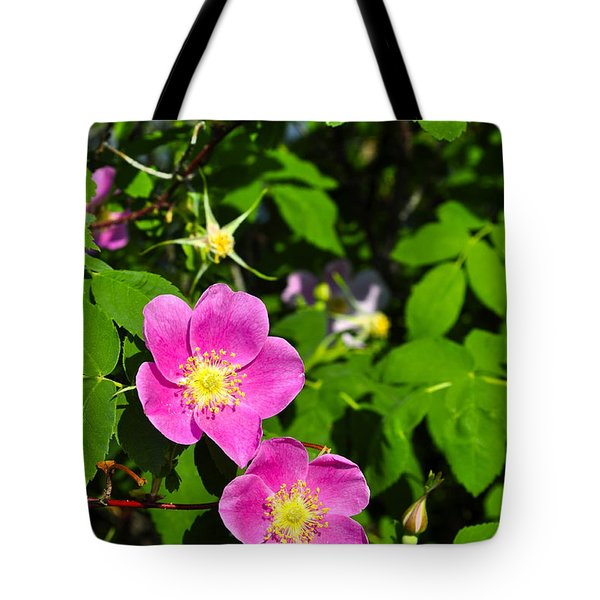Tote Bag featuring the photograph Wild Roses by Cathy Mahnke